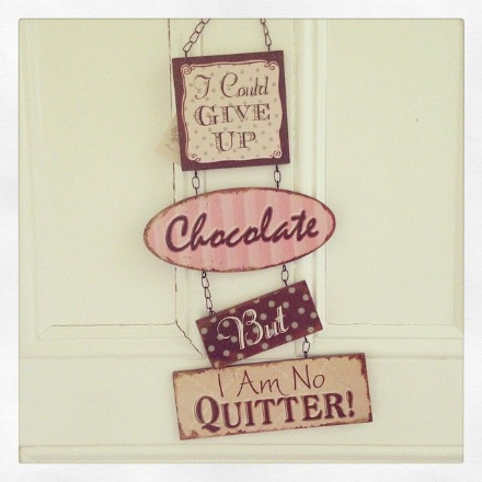 50% offLarge Hanging Wooden Shabby Chic Chocolate Sign